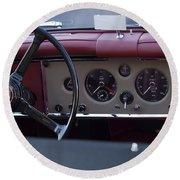 1959 Jaguar S Roadster Steering Wheel Round Beach Towel