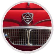 1960 Autobianchi Bianchina Transformabile Coupe Hood Emblem Round Beach Towel