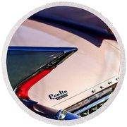 1960 Cadillac Eldorado Taillights Round Beach Towel