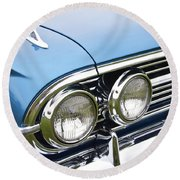 1960 Chevrolet Impala Front End Round Beach Towel