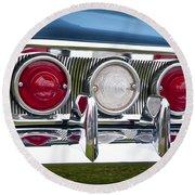 1960 Chevrolet Impala Tail Light Round Beach Towel