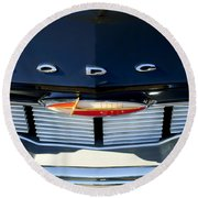 1960 Dodge Grille Emblem Round Beach Towel