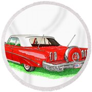 1960 Edsel Ranger Continental Kit Round Beach Towel