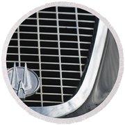 1960 Studebaker Hawk Grille Emblem Round Beach Towel