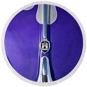 1960 Volkswagen Vw Bug Hood Emblem Round Beach Towel
