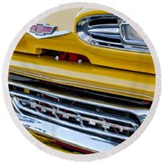 1961 Chevrolet Front End Round Beach Towel