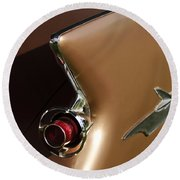 1961 Chrysler Imperial Taillight Round Beach Towel