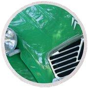 1961 Citroen 2cv Landaulet Hood Emblem Round Beach Towel