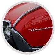 1961 Ford Thunderbird Headlight Emblem Round Beach Towel