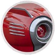 1961 Ford Thunderbird Taillight Round Beach Towel