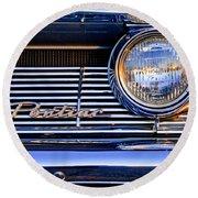 1961 Pontiac Catalina Grille Emblem Round Beach Towel