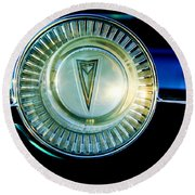 1961 Pontiac Catalina Steering Wheel Emblem Round Beach Towel