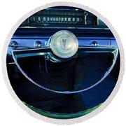1961 Pontiac Catalina Steering Wheel  Round Beach Towel