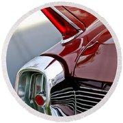1962 Cadillac Eldorado Taillight Round Beach Towel