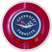 1962 Chevrolet Corvette Emblem Round Beach Towel