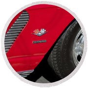 1962 Chevrolet Corvette Wheel Round Beach Towel