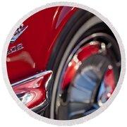 1962 Chevrolet Impala 409 Emblem Round Beach Towel