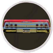 1962 Chevy Impala Ss Round Beach Towel