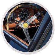 1963 Apollo Steering Wheel     Round Beach Towel