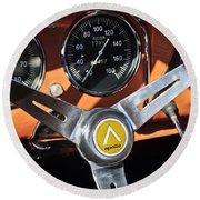 1963 Apollo Steering Wheel 2 Round Beach Towel by Jill Reger