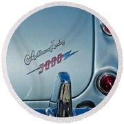 1963 Austin-healey Taillight Round Beach Towel