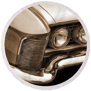 1963 Buick Riviera Sepia Round Beach Towel