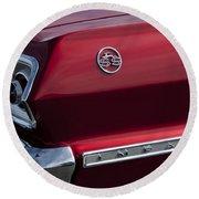 1963 Chevrolet Impala Ss Taillight Round Beach Towel