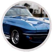 1963 Corvette Round Beach Towel