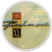 1963 Ford Galaxie Round Beach Towel