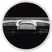 1963 Jaguar Back Up Light Round Beach Towel