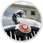 1963 Jaguar Emblem Round Beach Towel