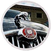 1963 Jaguar Mkii Fantasy Car Round Beach Towel
