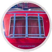 1963 Red Porsche 356b Super 90 Back End Round Beach Towel