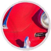 1963 Red Porsche Round Beach Towel