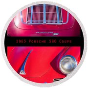 1963 Red Porsche S90 Coupe Poster S Round Beach Towel