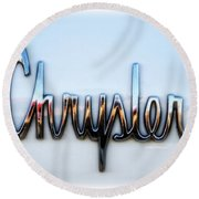 1964 Chrysler Emblem  Round Beach Towel