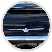 1964 Ford Thunderbird Hood Emblem Round Beach Towel