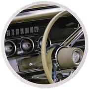 1964 Ford Thunderbird Steering Wheel Round Beach Towel