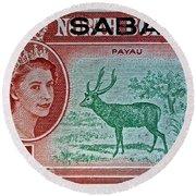 1964 North Borneo Sabah Stamp Round Beach Towel