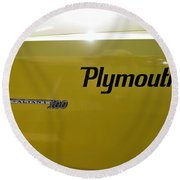 1964 Plymouth Valiant Round Beach Towel
