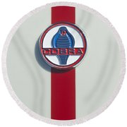 1965 427 Sc Cobra Reproduction Emblem Round Beach Towel