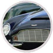 1965 Aston Martin Db6 Short Chassis Volante Round Beach Towel