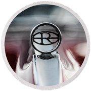 1965 Buick Riveria Hood Emblem Round Beach Towel