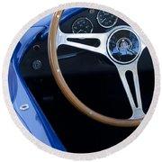 1965 Cobra Sc Steering Wheel 2 Round Beach Towel