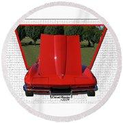 1965 Corvette Round Beach Towel