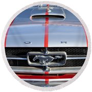 1965 Ford Mustang Front End Round Beach Towel