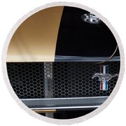 1965 Ford Mustang Grille Emblem 3 Round Beach Towel