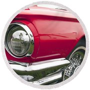 1965 Ford Thunderbird Front End Round Beach Towel