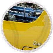 1965 Lotus Elan S2 Engine Round Beach Towel