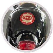 1966 Bsa 650 A-65 Spitfire Lightning Clubman Motorcycle Round Beach Towel by Jill Reger